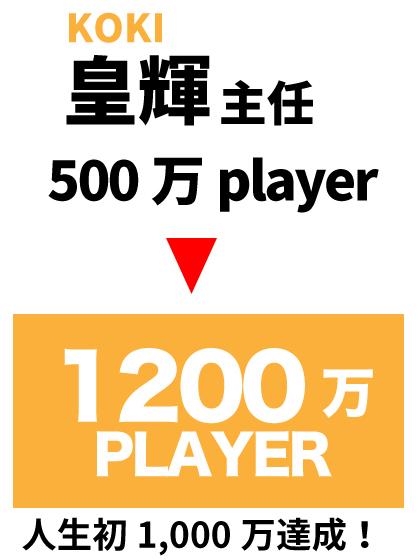 人生初1,000万達成!
